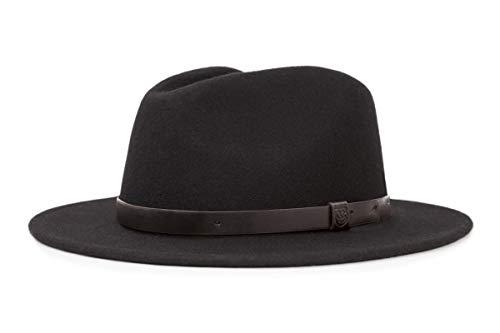 Caracteristicas: Fedora Banderol&eacute Ala Wool felt Aplicaci&oacute n logo XS: 54cm S: 56cm M: 58cm L: 60cm Color: black Material: 100% Lana