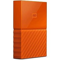 WD - My Passport - Disque dur externe portable USB 3.0 avec sauvegarde automatique et sécurisation par mot de passe - 1To, Orange