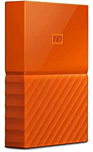 WD WDBYNN0010BOR-WESN My Passport 1 TB Portable Hard Drive and Auto Backup Software for PC, Xbox One and PlayStation 4, Orange