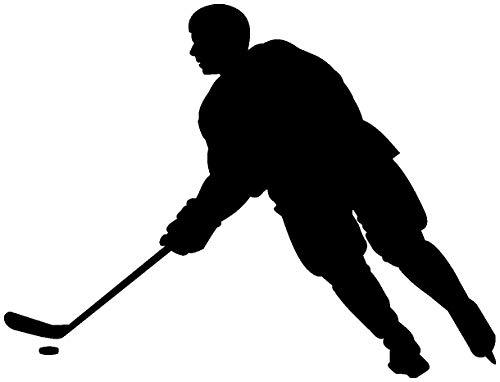 Samunshi® Aufkleber Eishockey Spieler Motorradaufkleber in 6 Größen und 25 Farben (10x7,6cm schwarz)