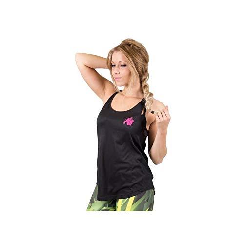Gorilla Wear Women's Santa Monica Tank Top - schwarz/pink - Bodybuilding und Fitness Top für Damen, S
