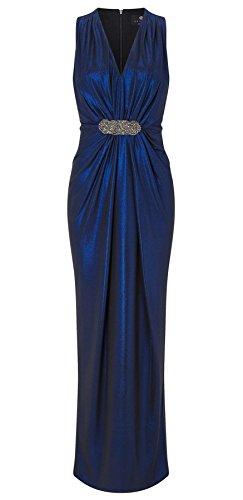 Clara Metallic Foil Maxi Dress