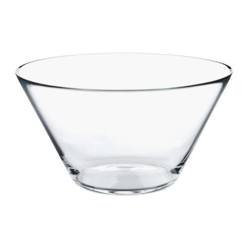 IKEA TRYGG - Sirviendo cuenco, vidrio transparente - 28 cm