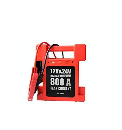 DMQNA Jump Starter, Tragbare Auto Batterie Booster Jump Starter, Unterstützung 12V / 24V Auto Notfall Start, Mit Mini-Luftkompressor, Rot,Red,12V/24V Batterie Booster-kabel