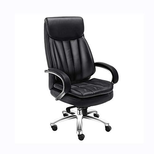 MYXMY High-End-einfache Computer Stuhl Studie Stuhl Chef Stuhl Mode ergonomischen Stuhl kann angehoben und abgesenkt Werden Drehstuhl Büro liegend Ledersessel