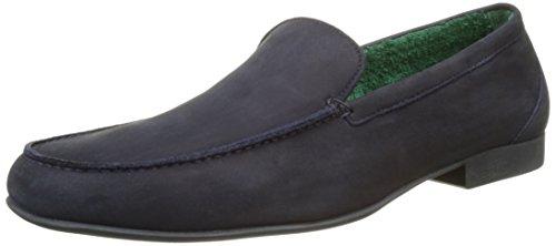 Fratelli Rossetti Herren 51889 Loafer, Blu (Marine), 44 EU (10 UK) (Marine-blau-leder-loafer)