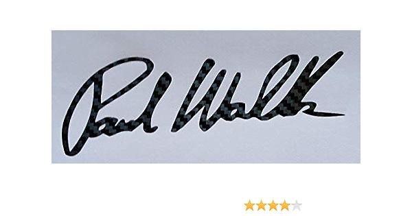 Supersticki Paul Walker Unterschrift Carbon Auto Aufkleber Tuning Ca 20cm Autoaufkleber Hochleistungsfolie Für Alle Glatten Flächen Uv Und Waschanlagenfest Tuning Profi Qualität Auto