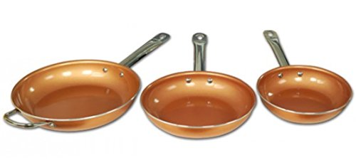 Sartenes starlyf Copper Pan–Lote 3sartenes anti adhesivas con partículas cobre–inducción–sin PFOA