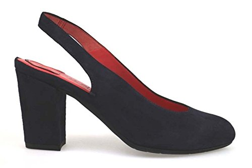 scarpe donna PAS DE ROUGE 36,5 EU sandali blu camoscio AP846-E