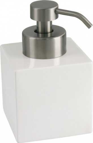 Seifen-Schaumspender Dora, Keramik weiß mit Seifenschaum-Pumpe Keramik Seifen-pumpe