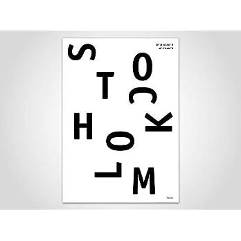 Stockholm/Poster, Stadt, Ort, Metropolen, Geografie, Holland, Stadtposter, Landkarte, Kunstdruck, skandinavisch, Deko, Weihnachten, Map, Schweden