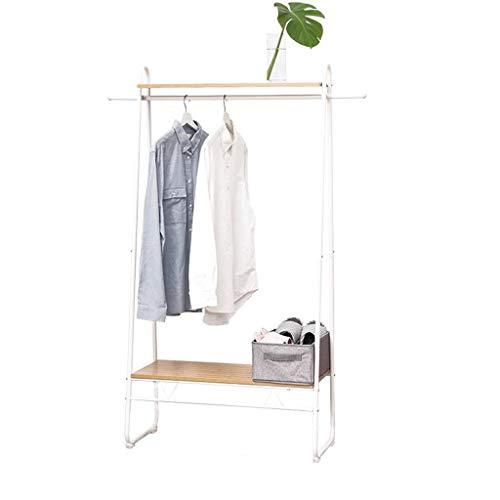KY Garderobenständer Kleiderstange Kleiderständer-Mantel kleidet hängende Schiene für Schuh- und Hutständer-Speicherregale im Flur, Wohnzimmer