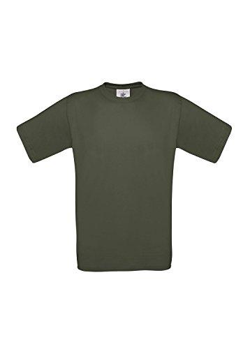 3er-Pack T-Shirt Exact 190 Herrenshirt kurzarm 3 T-Shirts Shirts B&C BCTU004 Khaki