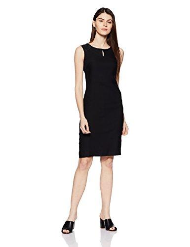 Park Avenue Woman A-Line Knee-Long Dress (PWEA00298-K9_Black_x-Large)