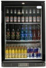 Single Door Black Bottle Cooler With LED Lighting Cater-Cool ck0500LED W600 x D520 x H900mm