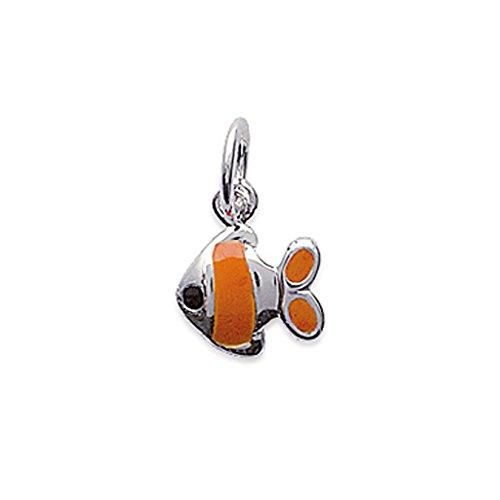 Anhänger Fisch Nemo in Silber 925und Emaille NEU -