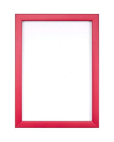 Rosa- 6 x 4 Zoll - Regenbogenfarbiger Bilderrahmen/Foto-/Posterrahmen -mit Einer Rückwand aus MDF - aus bruchsicherem Plexiglas aus Styrol für hohe Klarheit 4in Square Platte