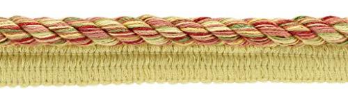 DecoPro 7,3 Meter Vorteilspackung Große 10 mm Tonerde, Alpingrün, Mais, Cajun Gewürz, Rouge, chinesisches Rot, Beachwood Basic Trim Cord mit Nählippe, Stil # 0038DKL- - Farbe: Chrysanthemen - N39 Stil Cord