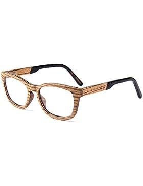 NATURJUWEL montura de gafas madera marrón para hombre unisex mujeres