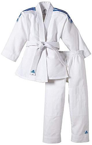 adidas Traje de Judo para niños Evolution (Incl. cinturón), Blanco, 110/120, J250E