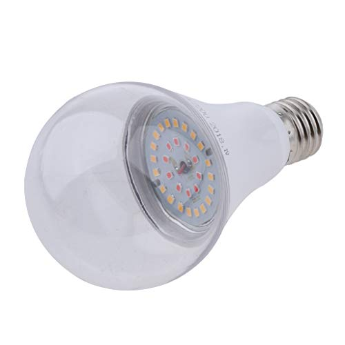 FLAMEER LED Pflanzenlampe E27 LED Wachsen Glühbirne Pflanzenlicht Zimmerpflanzen Wachstumslampe für Zimmerpflanzen Gewächshaus Garten Blumen und Gemüse - Warmes Weiß_15W