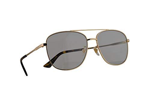 Gucci GG0410SK Sonnenbrille Gold Mit Blauen Gläsern 61mm 005 GG0410/SK 0410/SK GG 0410SK