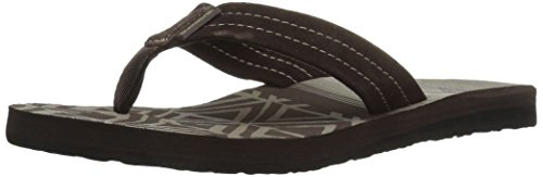 Quiksilver Carver Suede Ar, Tongs Homme Brown/Black/Brown