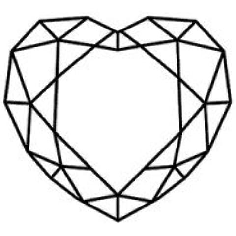 Sello de madera - Corazón diamante