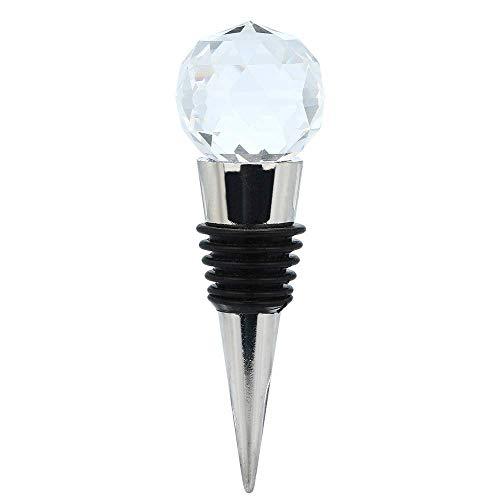 Aofocy Künstlicher Diamant-Kristall-Edelstahl-vakuumversiegelte Champagner-Wein-Flaschen-Retter-Stopper-Kappen