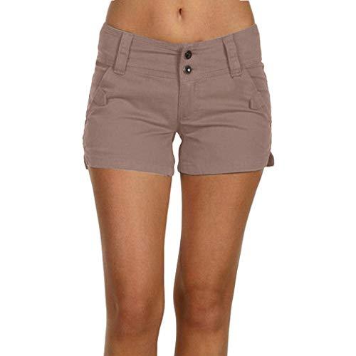 Honestyi Shorts Frauen Beiläufige Kurzschluss Werkzeug Sport Sommer Plus Größen Lose Hosen Damen Normallack Dünne Ausdehnung Große Knopf Kurzschlüsse