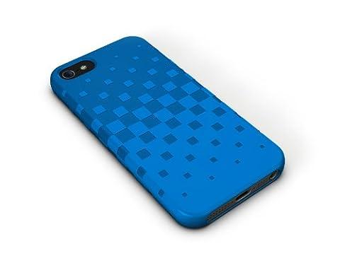 XtremeMac IPP-TWN-23 Tuffwrap Peacock Silikon-Schutzhülle für Apple iPhone 5 blau