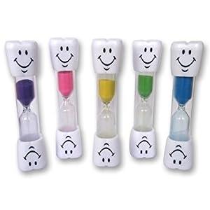 Wadoy Kids Zahnbürste Timer ~ 2 Minuten Smiley Sand Timer zum Zähneputzen der Zähne (Blau)