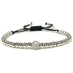 YCWDCS Bracelet Pulseras Mujer Moda 2017 Perles Bracelet 6Mm Balle Blanche Bracelets pour Femmes Pulseira Feminina Cadeau De Noël