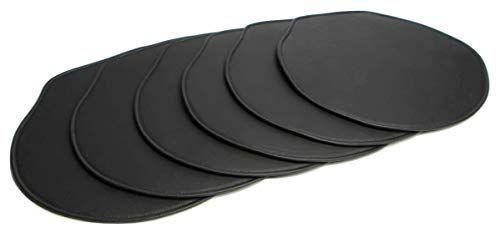 Second May Leather Chair Pads for Office Chair Cushions for Arne Jacobsen's Stole Model 3107, 3207 (Koskind) (Set of 6) -