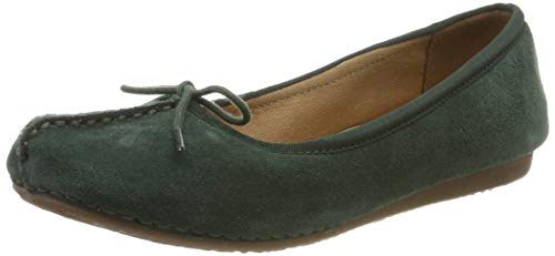 Clarks Damen Freckle Ice Slipper, Grün Forest Green, 39.5 EU - Clarks Damen Sandalen