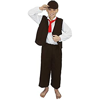 Victorian School Boy Costume Child Poor Urchin Book Day Oliver Fancy Dress Outfi