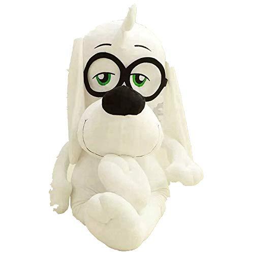 LAIBAERDAN Plüschtier Genius Brille Hund Puppe Junge Plüschtier Ragdoll Kind Geschenk 30-42-65Cm, 65Cm