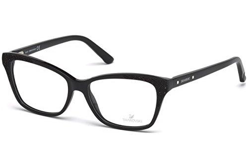 Swarovski - GRANDIOSA SK5175, Rechteckig, Acetat, Damenbrillen, SHINY BLACK(001 F), 54/15/140
