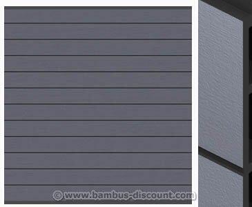 Sichtschutzzaun WPC System Set anthrazit, 178x183cm – Sichtschutz, Sichtschutz Elemente, Sichtschutzwand, Windschutz, Sichtschutzzäune