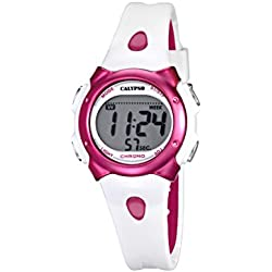 Calypso Girl's Digital Watch with LCD Dial Digital Display and Multicolour Plastic Strap K5609/3