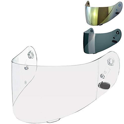 Visier Helm HJC CL-16 CL-17 CL-ST CL-SP CS-R1 CS-R2 CS-15 TR-1 FG-15 HS-11 FS-15 FS-11 Helmvisier Trasparent Dark Fume Spiegel Gold Aftermarket ( Klar Durchsichtig )