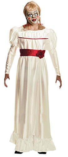 Confettery - Damen Karneval Halloween Kostüm Annabelle , Weiß, Größe (Kostüm Annabelle Für Kinder)