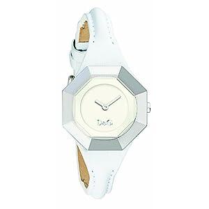 D&G Dolce&Gabbana DW0284 – Reloj analógico de mujer de cuarzo con correa de piel blanca – sumergible a 30 metros