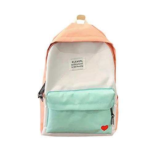 farbe Liebes Herz Drucken Daypack Rucksack Schultaschen Tagesrucksack Backpack Handtaschen Umhängetasche Reiserucksack für Schule Reise Arbeit (Pink-a, Eine Größe) ()