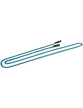 Cordón para gafas - Cadena para gafas de aluminio en varios colores y diseño con eslabones (azul azur, paquete...