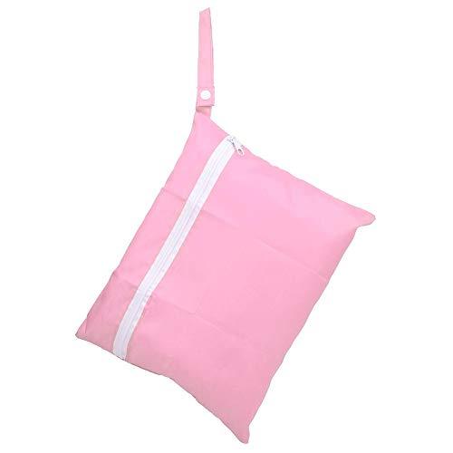 Bagnato Asciutto Stoffa Pannolino Borse Sacchetti Sospeso Cotone Borsa All'aperto Impermeabile Lavabile Conservazione Organizzatore Viaggio Spiaggia Piscina Daycare Articoli Bambini Sporchi(Pink)