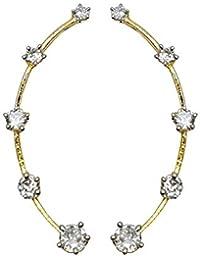 YouBella Stylish Party Wear Jewellery Gold Plated Drop Earrings for Women (Golden)(YBERC_45)