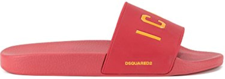 DSQUARED2 Herren FFM0102172000014065 Rot Gummi Sandalen