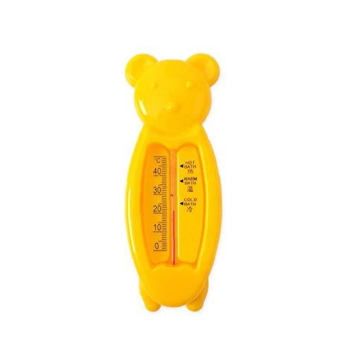 veklblan Karikatur-Bären-Babys Badethermometer Badewasser Temperatur Messen Spielzeug Schwimmdock Verwendet In Badewanne Und Pool Neugeborenes Kleinkind Badezubehör Gelb