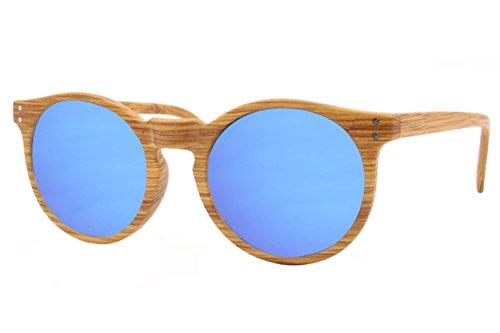 Cheapass occhiali da sole clubmaster marroni con un look da legno UV400 plastica vintage uomini donne fRsTT3fz